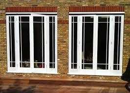 Glass Bifold Doors Exterior House Exterior Design With White Frame Bi Folding Glass Door