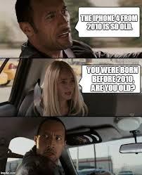 Iphone 4 Meme - the rock driving meme imgflip