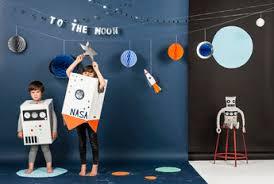 chambre theme espace déco anniversaire garçon thème espace astronaute déco design