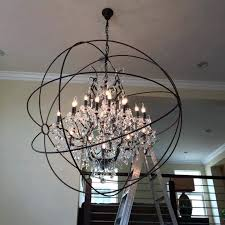 Sphere Chandelier With Crystals Sphere Chandelier With Crystals Medium Size Of Chandeliers