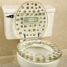 Lucite Bathroom Accessories by Dollar Bill Toilet Seat