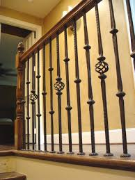 Iron Banister Spindles Wrought Iron Spindle With Graceful Stair Parts Railing 44 In X 1