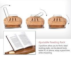 Bathtub Book Tray Bamboo Bathtub Caddy Tray With Adjustable Holder Bathroom Spa
