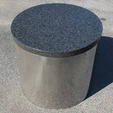 pedestal base for granite table top midcentury retro style modern architectural vintage furniture from