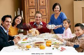 hispanic family meal thanksgiving stock photos hispanic