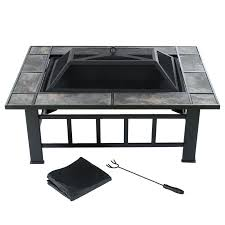fire table cover rectangle fire pit steel fire pit cover rectangular tile with the home depot
