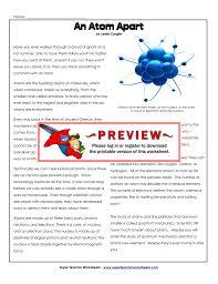 an atom apart super teacher worksheets