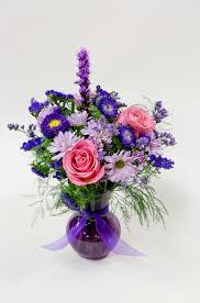 fresh flower delivery purple mixed fresh flower arrangement roses fresh flower