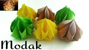 origami paper u0027modak sweet u0027 ganapathi ganesh chaturthi
