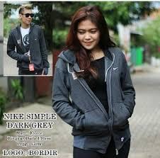 Jaket Nike Murah Bandung jual jaket nike simple grey sweater pria wanita grosir murah