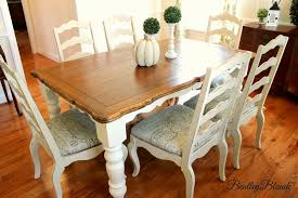 Paint Dining Room Table Chalk Paint Kitchen Table Top Painting A With Makeover Dining Redo