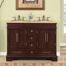 bathroom back stained wood double sink bathroom vanities with