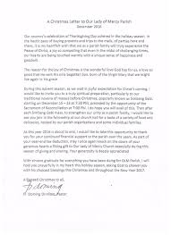 letter from pastor our parish our of mercy parish
