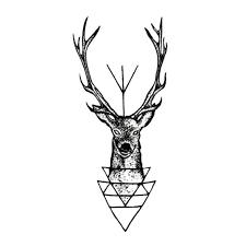 waterproof temporary tattoo sticker elk head deer tattoo bucks