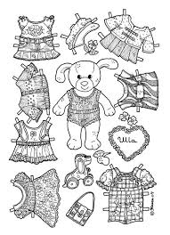 paper doll coloring pages easter dolls