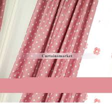 Pink Polka Dot Curtains Polka Dot Curtains Of Polyester For Room Darkening