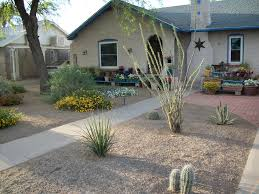 simple landscaping ideas for front of house desert small space