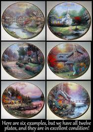 kinkade collectors plates my grand estate sale