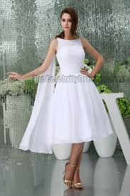 simple knee length wedding dresses white knee length a line cocktail wedding dresses