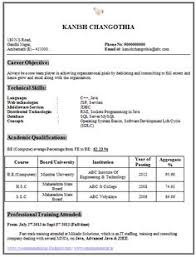resume format for engineering students for tcs next step resume template of a computer science engineer fresher with great