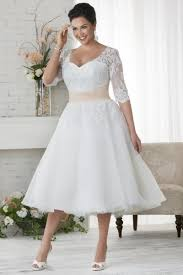 wedding dresses plus size uk a line tea length straps organza fabric plus size wedding dresses