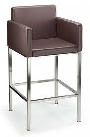 brushed stainless steel chrome satin kitchen breakfast bar stools