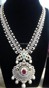 diamond long necklace images Medium length diamond haram diamond indian jewelry and india jpg