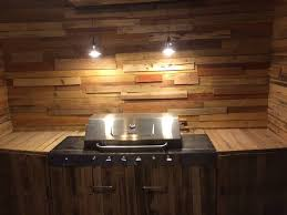 outdoor kitchen lighting ideas upcycled pallet outdoor kitchen