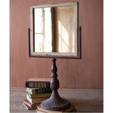 Tabletop Vanity Mirror With Lights Distressed Iron Tabletop Stand Mirror A Cottage In The City