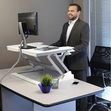 Sit Stand Desk Top Workstation by Workfit T Sit To Stand Desktop Workstation Black Or White