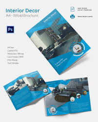 travel a4 bi fold brochure template