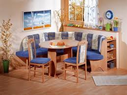 Blue Dining Set by Stupendous Bright Kitchen With Breakfast Nook Design Idea Also Oak