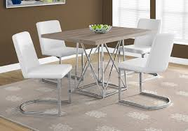 dining room table ls dark taupe 48 dining room set with 34 chairs from monarch