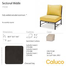 Caluco Patio Furniture San Michelle Sectional Middle Set Of 2 Caluco Patio Furniture