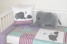 teal and gray elephant crib bedding home beds decoration