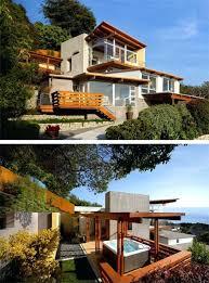 hillside home plans modern hillside house designs enchanting modern hillside house