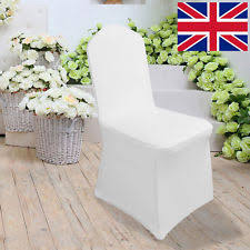 White Banquet Chair Covers 100 Wedding Chair Covers Ebay