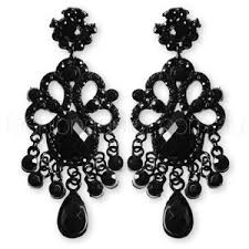 earrings chandelier large jewels black polyvore
