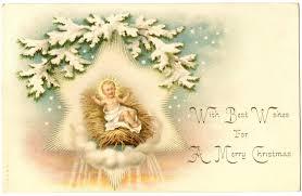 vintage christmas image beautiful jesus manger graphics