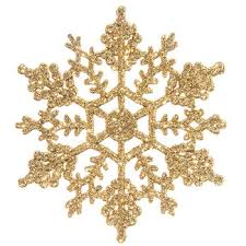 gold glitter snowflake ornaments hobby lobby 6510259