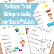 summer kindergarten reading comprehension worksheets itsy bitsy fun