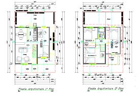 wonderful two story house plans autocad 15 2 floor blueprint 4