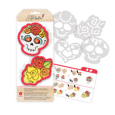 halloween cookie cutters sweet sugarbelle day of the dead set 3 7 8