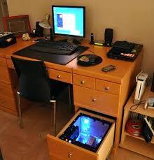 Gaming Computer Desk Built In Computer Desk U2013 Viscometer Co