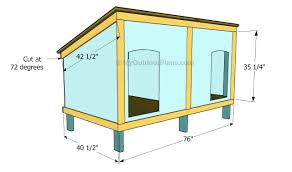 free custom dog house plans