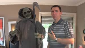 halloween review 6 u0027 animated talking grim reaper by spooky