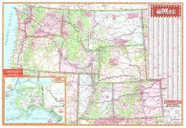 road map northwest usa northwest united states wall map page free maps globes geo