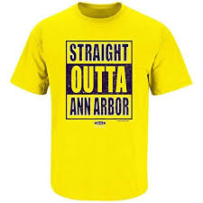 michigan wolverines fan gear michigan wolverines fans straight outta ann arbor t shirt s 5xl