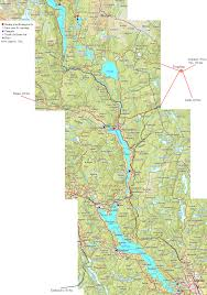 Map Of North East Canoeing Map Of Lakes And Rivers Of Telemark In Norway And
