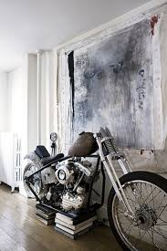 home interior decorating harley davidson bedroom decor love the industrial looking artwork paired with the vintage
